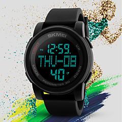 preiswerte Damenuhren-SKMEI Damen Armbanduhr Digital 50 m Wasserdicht Kalender Nachts leuchtend Silikon Band digital Freizeit Modisch Schwarz / Grün - Schwarz Grün