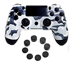 お買い得  ビデオゲーム用アクセサリー-ワイヤレスブルートゥースゲームコントローラゲームパッドコントローラPS4用シリコンキャップ付きジョイスティックゲームパッド