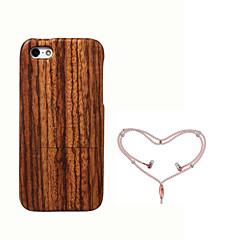 お買い得  iPhone 5S/SE ケース-ケース 用途 Apple iPhone 5ケース 耐衝撃 バックカバー 木目 ハード 丈 のために iPhone SE/5s