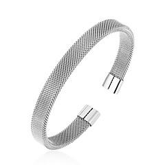 preiswerte Armbänder-Herrn Armreife - Rostfrei Armbänder Schwarz / Silber / Rotgold Für Alltag / Ausgehen