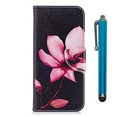Недорогие Чехлы и кейсы для Motorola-Кейс для Назначение Motorola G5 Plus / G5 Кошелек / Бумажник для карт / со стендом Чехол Цветы Твердый Кожа PU для Moto G5s / Мото G5 Plus / Moto G5