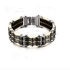 cheap Bracelets-Men's Geometric Chain Bracelet - Stainless Steel Fashion Bracelet Black For Gift Daily