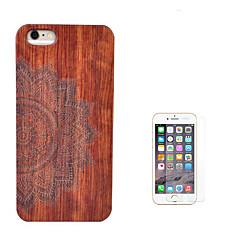 Недорогие Кейсы для iPhone-Кейс для Назначение Apple iPhone 6 iPhone 6 Plus Защита от удара Чехол Цветы Твердый деревянный для iPhone 6s Plus iPhone 6s iPhone 6