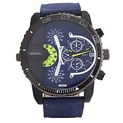 お買い得  メンズ腕時計-JUBAOLI 男性用 クォーツ カジュアルウォッチ 中国 大きめ文字盤 ステンレス バンド クール ブラック 白 レッド グリーン スカイブルー