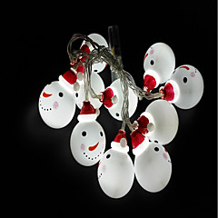 お買い得  LED ストリングライト-1.5メートル ストリングライト 10 LED 1.5Mストリングライト ホワイト 装飾用 単3乾電池 1個