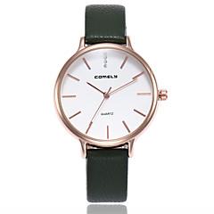 preiswerte Damenuhren-Damen Modeuhr Quartz Armbanduhren für den Alltag PU Band Analog Freizeit Minimalistisch Schwarz / Grau / Rosa - Grau Rosa Dunkelgrün