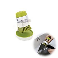abordables Limpieza para la Cocina-sartén plato tazón cepillo con detergente tanque cocina herramientas limpias
