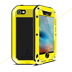 Недорогие Кейсы для iPhone-Кейс для Назначение Apple Кейс для iPhone 5 Вода / Грязь / Надежная защита от повреждений Чехол Сплошной цвет Твердый Металл для iPhone