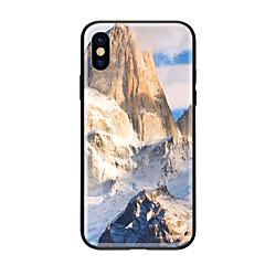 Недорогие Кейсы для iPhone-Кейс для Назначение Apple iPhone X iPhone 8 С узором Кейс на заднюю панель Пейзаж Твердый Закаленное стекло для iPhone X iPhone 8 Pluss