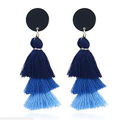 preiswerte Ohrringe-Damen Quaste Tropfen-Ohrringe - Quaste, Süß Hell Orange / Hellblau / Leicht Rosa Für Alltag / Ausgehen