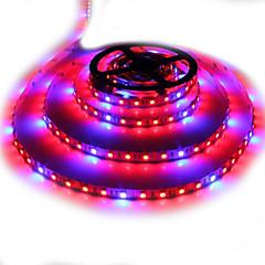 お買い得  LED 電球-zdm 5m防水5050 4赤+ 1青フルスペクトルは、12v / 6a電源アダプタと非防水アクアリウムの照明を成長する植物のための光を300leds LEDストリップランプを成長させる1set