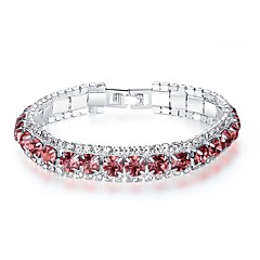 preiswerte Armbänder-Damen Kristall / Kubikzirkonia Armband - Krystall, Zirkon Koreanisch, Modisch Armbänder Rot / Grün / Blau Für Party / Geschenk