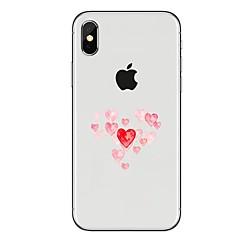 Недорогие Кейсы для iPhone 7 Plus-Кейс для Назначение Apple iPhone X iPhone 8 Прозрачный С узором Кейс на заднюю панель С сердцем Мягкий ТПУ для iPhone X iPhone 8 Pluss