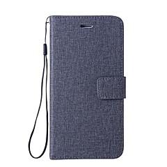 Недорогие Чехлы и кейсы для LG-Кейс для Назначение LG G6 Кошелек / Бумажник для карт / со стендом Чехол Однотонный Твердый Кожа PU для LG Nexus 5X / LG G6 / LG G5