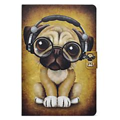 Недорогие Чехлы и кейсы для Galaxy Tab 3 Lite-Кейс для Назначение SSamsung Galaxy Tab E 9.6 / Tab A 10.1 (2016) Бумажник для карт / со стендом / Флип Чехол С собакой Твердый Кожа PU для Tab 3 Lite / Tab E 9.6 / Tab A 8.0 (2017)