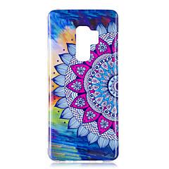 olcso Galaxy S6 Edge tokok-Case Kompatibilitás Samsung Galaxy S9 S9 Plus Foszforeszkáló IMD Minta Fekete tok Mandala Ragyog Puha TPU mert S9 Plus S9 S8 Plus S8 S7