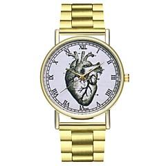 preiswerte Herrenuhren-Damen Chinesisch Chronograph / Armbanduhren für den Alltag / Punk Edelstahl Band Zeichentrick / Minimalistisch Gold / Großes Ziffernblatt / SSUO LR626
