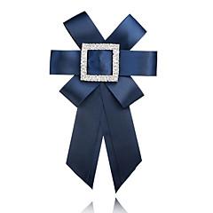 お買い得  ブローチ-女性用 リボン ラインストーン ブローチ  -  フォーマル / ファッション / 欧風 リボン レッド / ブルー / ネービーブルー ブローチ 用途 式典 / フォーマル