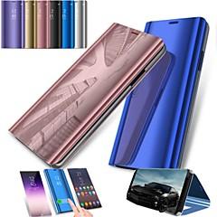 Χαμηλού Κόστους Galaxy S6 Θήκες / Καλύμματα-tok Για Samsung Galaxy S9 S9 Plus με βάση στήριξης Καθρέφτης Πλήρης Θήκη Συμπαγές Χρώμα Σκληρή PC για S9 Plus S9 S8 Plus S8 S7 edge S7 S6