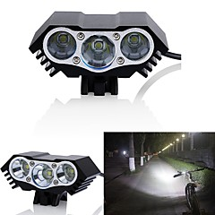 abordables Luces para bicicleta-Luz Frontal para Bicicleta / Faro de bicicleta LED Luces para bicicleta LED Ciclismo Impermeable, Modos múltiples 18650.0 3000 lm DC Powered Ciclismo / IPX-5