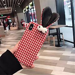 Недорогие Кейсы для iPhone X-Кейс для Назначение Apple iPhone X iPhone 7 Plus С узором Кейс на заднюю панель Мультипликация Мягкий текстильный для iPhone X iPhone 8