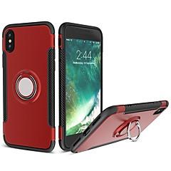 お買い得  iPhone 5S/SE ケース-ケース 用途 Apple iPhone X iPhone 8 耐衝撃 バンカーリング バックカバー 鎧 ソフト シリコーン のために iPhone X iPhone 8 Plus iPhone 8 iPhone 7 Plus iPhone 7 iPhone 6s Plus