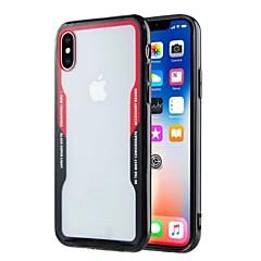 Недорогие Кейсы для iPhone X-Кейс для Назначение Apple iPhone X iPhone 8 Plus Ультратонкий Прозрачный Кейс на заднюю панель Однотонный Твердый Акрил для iPhone X