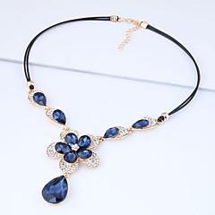 preiswerte Halsketten-Damen Anhängerketten  -  Blume Europäisch, Modisch Dunkelblau Modische Halsketten Für Party