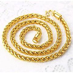 Недорогие Ожерелья-Муж. Ожерелья-цепочки - Позолота Камни Золотой Ожерелье Бижутерия Назначение Для улицы, Для клуба
