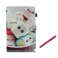 billiga Galaxy Tab 4 10.1 Skal / fodral-fodral Till Samsung Galaxy Tab A 8.0 (2017) Tab A 10.1 (2016) Korthållare med stativ Lucka Magnet Mönster Fodral Tecknat Hårt PU läder för