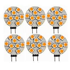 preiswerte LED-Birnen-SENCART 6pcs 1.5W 270lm G4 LED Doppel-Pin Leuchten T 9 LED-Perlen SMD 5050 Dekorativ Warmes Weiß 12V / ASTM