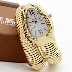 preiswerte Damenuhren-Damen Paar Armbanduhren für den Alltag Modeuhr Einzigartige kreative Uhr Quartz Armbanduhren für den Alltag Legierung Band Analog Luxus Freizeit Silber / Gold / Rotgold - Gold Silber Rose
