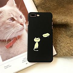 Недорогие Кейсы для iPhone 7-Кейс для Назначение Apple iPhone X / iPhone 7 Plus С узором Кейс на заднюю панель Кот Твердый Акрил для iPhone X / iPhone 8 Pluss / iPhone 8