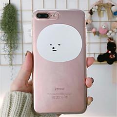 Недорогие Кейсы для iPhone 6 Plus-Кейс для Назначение Apple iPhone X / iPhone 7 Plus Прозрачный / С узором Кейс на заднюю панель Мультипликация Мягкий ТПУ для iPhone X / iPhone 8 Pluss / iPhone 8