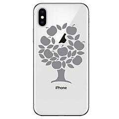 Недорогие Кейсы для iPhone 6 Plus-Кейс для Назначение Apple iPhone X iPhone 8 Прозрачный С узором Кейс на заднюю панель дерево Мягкий ТПУ для iPhone X iPhone 8 Pluss