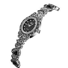 preiswerte Damenuhren-ASJ Damen Japanisch Quartz 30 m Wasserdicht Armbanduhren für den Alltag Legierung Band Analog Modisch Schwarz - Silber Zwei jahr Batterielebensdauer / SSUO 377