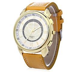 preiswerte Herrenuhren-JUBAOLI Herrn Armbanduhren für den Alltag Chinesisch Cool / Großes Ziffernblatt Leder Band Weiß