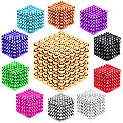 abordables Juguetes Magnéticos-216 pcs 3mm Juguetes Magnéticos Bolas magnéticas Bloques de Construcción Puzzle Cube Metalic Magnético Magnética Adulto Unisex Chico Chica Juguet Regalo
