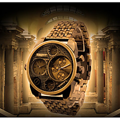preiswerte Herrenuhren-Oulm Herrn Armbanduhren für den Alltag Modeuhr Japanisch Quartz Schwarz / Gold Wasserdicht Armbanduhren für den Alltag Analog Luxus Modisch - Schwarz Bronze Dunkelrot