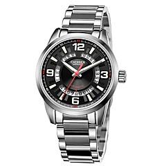 お買い得  ラグジュアリー腕時計-CADISEN スポーツウォッチ ファッションウォッチ 機械式時計 エミッタ 耐水, カレンダー, カジュアルウォッチ ホワイト / ブラック / ホワイト / ステンレス / 日本産 / 自動巻き / 日本産