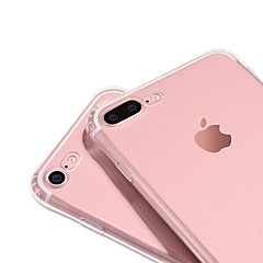 Недорогие Кейсы для iPhone-Кейс для Назначение Apple iPhone 7 iPhone 7 Plus Защита от удара Кольца-держатели Кейс на заднюю панель Сплошной цвет Мягкий ТПУ для
