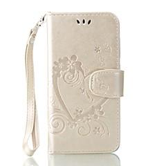 Недорогие Чехлы и кейсы для Huawei серии Y-Кейс для Назначение Huawei Y5 II / Honor 5 Бумажник для карт Кошелек со стендом Флип Рельефный Чехол Сплошной цвет Бабочка Твердый Кожа PU