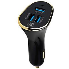 お買い得  スマートフォン用充電器-車載充電器 電話USB充電器 USB マルチシュッ力 QC 3.0 USBポート×3 5.1A DC 12V-24V