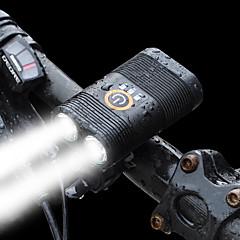 tanie -Przednia lampka rowerowa Kolarstwo Przenośny/a Z portem ładowania 800 Lumenów Akumulator Biały
