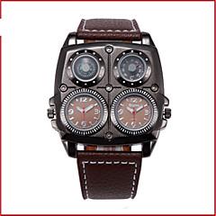 preiswerte Armbanduhren für Paare-Oulm Armbanduhren für den Alltag Modeuhr Sender Wasserdicht, Kompass, Duale Zeitzonen Weiß / Schwarz / Braun