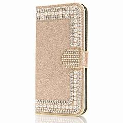 olcso Galaxy S6 Edge tokok-Case Kompatibilitás Samsung Galaxy S9 S9 Plus Kártyatartó Pénztárca Strassz Állvánnyal Flip Mágneses Héjtok Virág Csillogó Kemény PU bőr