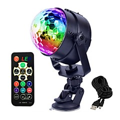 cheap Indoor Lights-1 set 4 W 4 LED Beads Remote Control / RC LED Stage Light / Spot Light RGB Commercial Living Room / Dining Room Bedroom