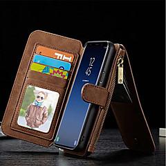 abordables Galaxy S6 Carcasas / Fundas-Funda Para Samsung Galaxy S9 Plus / S8 Cartera / Soporte de Coche / Antigolpes Funda de Cuerpo Entero Un Color Dura piel genuina para S9 / S9 Plus / S8 Plus