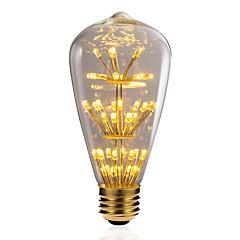 preiswerte LED-Birnen-BRELONG® 1pc 3W 300 lm E26/E27 LED Kugelbirnen 47 Leds SMD sternenklar Dekorativ Gelb 220V-240V