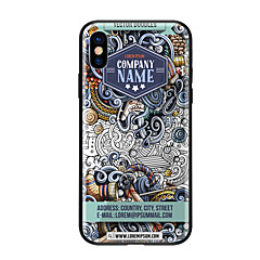 Недорогие Кейсы для iPhone-Кейс для Назначение Apple iPhone X iPhone 8 С узором Кейс на заднюю панель Мультипликация Твердый Закаленное стекло для iPhone X iPhone 8